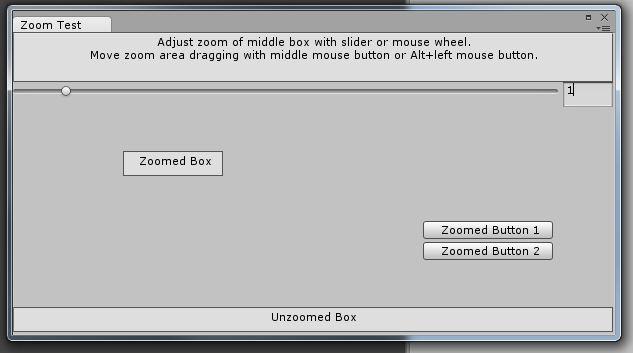 ZoomTest Editor Window